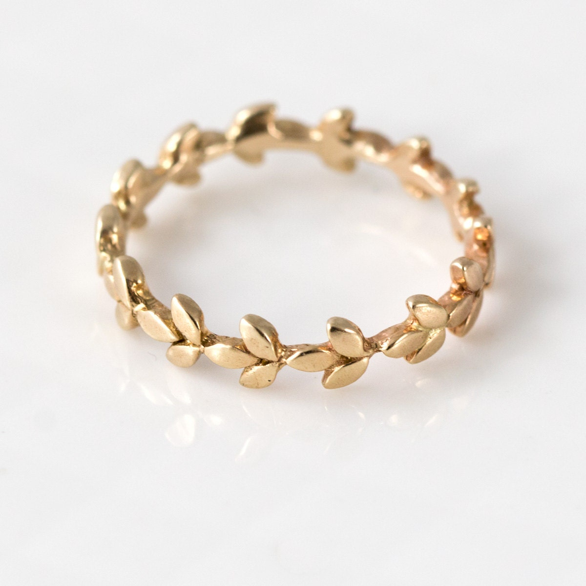 vine wedding band in 14k gold 14k gold by
