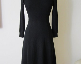 St. John Goth Princess Knit Long Sleeve Dress Size S / 2-4