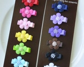 SALE Infant Hair Bows - Infant Hair Clips - Toddler Hair Clips - Rainbow - 12-Pack Small Alligator Clips - Babies, Infants, Toddlers and Gir