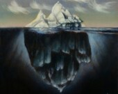 Iceberg oil painting original