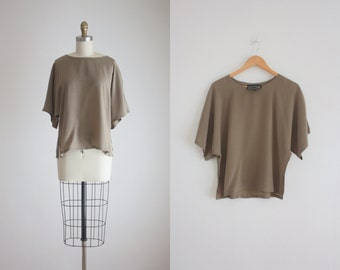 bronze silk t-shirt