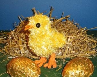 HALF PRICE SALE Instant Digital File Pdf Download Easter knitting pattern-madmonkeyknits Fluffy  Chick toy pdf knitting pattern