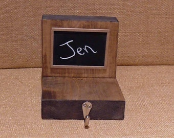 Personalized Chalk Board Block Wood Stocking Hanger
