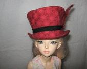 Msd clothes, msd hat, 1/4 bjd hat, msd cap, 1/4 bjd cap, 1/4 bjd clothes, MSD Top Hat, 1/4 BJD Top Hat, bjd hat, msd hat