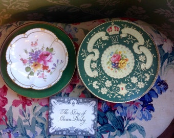 Vintage 1955 Royal Crown Derby Commemorative Plate and Box