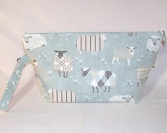 Sheep Sweaters in Duck Egg Beckett Bag - Premium Fabric
