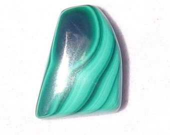 Malachite Freeform Cabochon/ Dark and lite Green Bands!