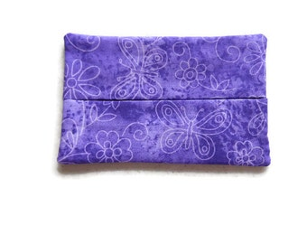 Fabric Butterfly Tissue Holder -  Butterflies and Flowers