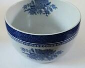 Vintage Spode Fitzhugh Blue Rice or Berry Bowl
