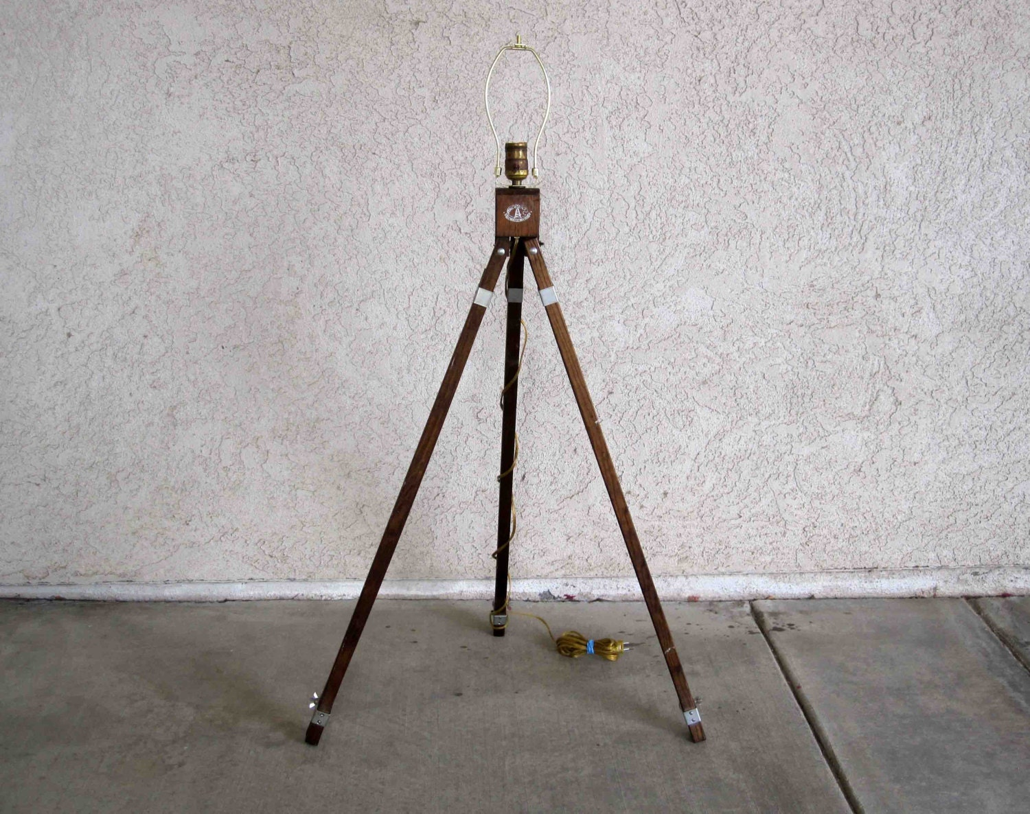 Vintage Mid Century Anco Bilt Art Easel Lamp Up Cycled