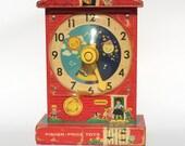 Vintage Fisher Price Teaching Clock 1968