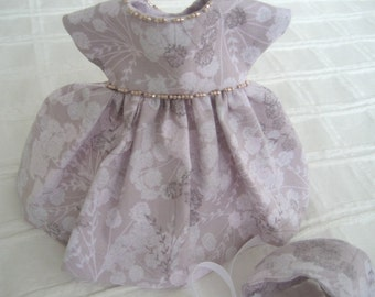 """Ginny 8"""" Doll Clothes, """"Janece"""" Dress and Bonnet"""