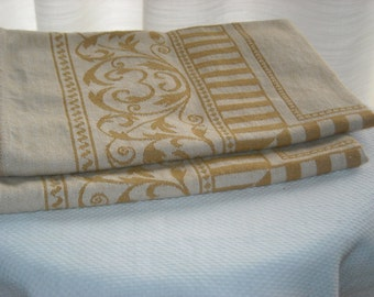 Set of two vintage table scarves - 2 scarfs - 1970s