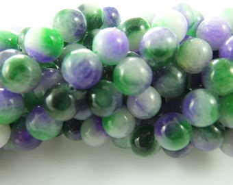 1 Strand (50psc) Assorted ,Natural Stone  Beads, Round Beads , Material for Jewelry Making , approx 5mm