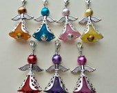 Guardian Angel Pet Collar Charm with Jingle Bell in 7 colour choices