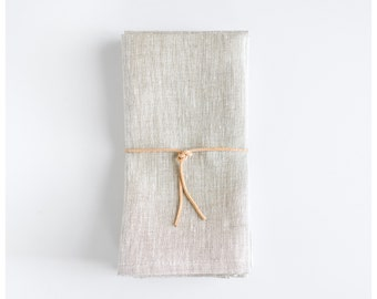Heirloom Napkins- Oatmeal (set of 4)- Linen Napkins - Cloth Napkins - Dinner, lunch or brunch napkins- Free Shipping to the USA.