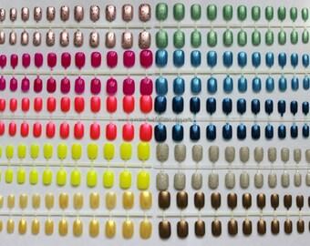 Summertime. Set of 10 Short Petite, Press-On Nails From Japan, DIY Nail Art, Short Fake Nails, Rainbow, False Nails, Acrylic Nails, Nail Art
