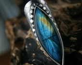 RESERVED - Out of the Night - Labradorite Sterling Silver Ring