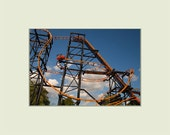 Steel Hawg Roller Coaster at Indiana Beach Amusement Park 5x7 print with 8x10 mat