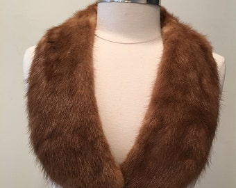 1950 1960 Vintage Mink Collar - Recycled Fur Collar - Upcycle Up Cycle Fur - Chic Elegant Fun - Add to Tees and Sweaters - Instant Luxury