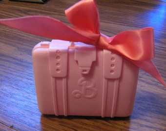 Barbie Suitcase Accessory - Pink Barbie Collectible - Vintage - Mattel Toy