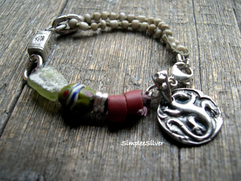 artisan jewelry rustic beaded bracelet statement