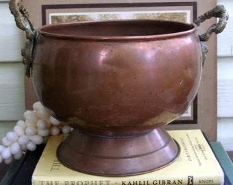 Vintage Copper Bubble Bucket or Planter