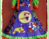 Halloween Dress with 4 applique.  DESIGN YOUR OWN.  sizes 2T-14  custom