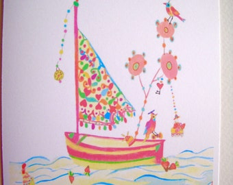 NEW  Whimsey Sailboat