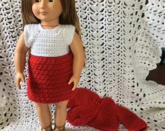 "American girl/18"" Dress and sweater"