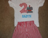 Circus Carnival Themed Boys Short Set