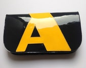 NEW! Navy & Bright Yellow Patent Leather Letter Clutch