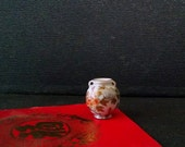 Miniature Asian Vase Vintage Dollhouse Handpainted Porcelain China