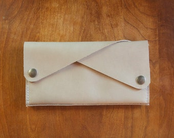 Leather Wallet - The Dolly - In London Fog - Ready to Ship