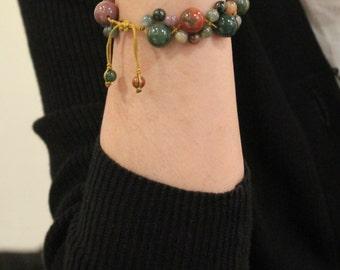 Indian Jade/Agate bracelet, friendship bracelet, Thread bracelet, Cord Bracelet