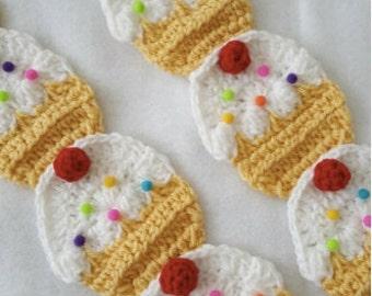 crochet  cupcake scarf vanilla   cherry SALE,\more colors
