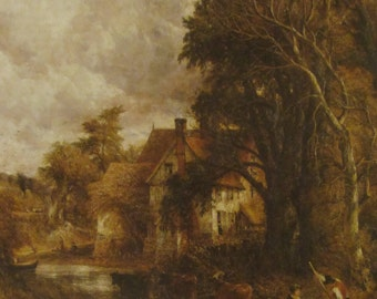 The Valley Farm, 1835, John Constable, Unframed Reproduction Art Print 9 x 11.5 in Color Plate Book Plate Vintage Book Page Wall Decor