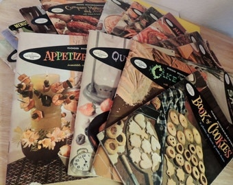 1950s set of 15 Cookbooks Fabulous Classic Recipes!