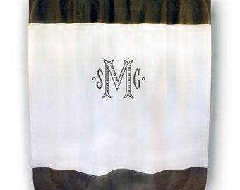 Monogrammed Shower Curtain - Color Trim