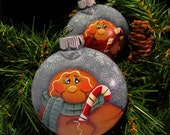 Gingerbread Candy Cane Christmas Tree Ornament