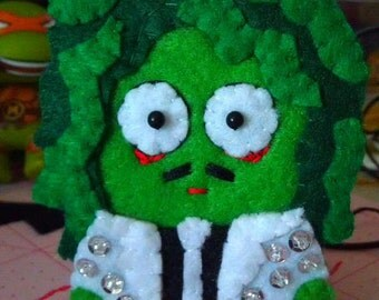 Old Gregg from The Mighty Boosh - Handmade felt applique ornament