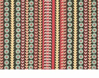 Free Spirit Victoria and Albert  Jones-STRIPE-Melon PWVA031 1 YARD CUT