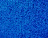 Royal Blue Ribbed Cotton Chenille Fabric  19 x 25 Inches
