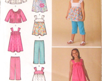 Simplicity Pattern Dress, Jacket, Top and Pants, Girl's Size 3,4,5,6