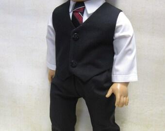 "Black Dress Suit for 18"" Boy Doll"