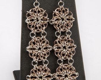 A Gift For Her Three Strand Rosette Earrings