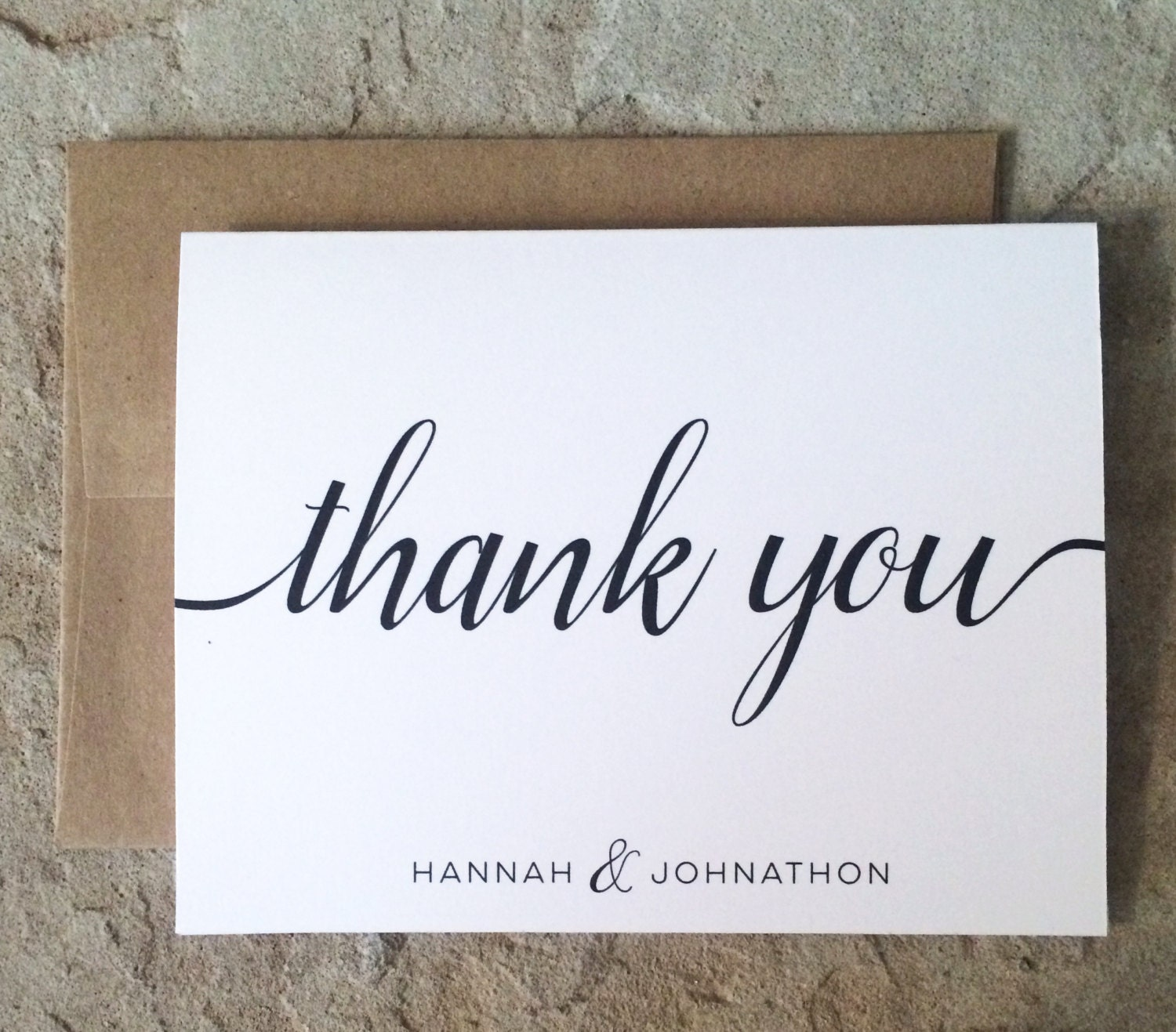Personalized Thank You Cards Wedding Thank You Notes Black