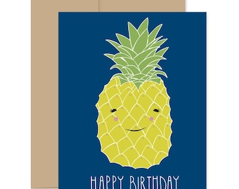 Pineapple Happy Birthday Cards, Pineapple Boxed Set, Pineapple Birthday Card, Pineapple Greeting Cards, Pineapple Stationery