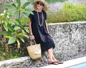 LINEN, Caftan, Kaftan, Oversize Dress, Midi, Resort Wear, Bohemian, Island Style, Tropical Clothing, Beach Dress, Coverup, Irra Dress