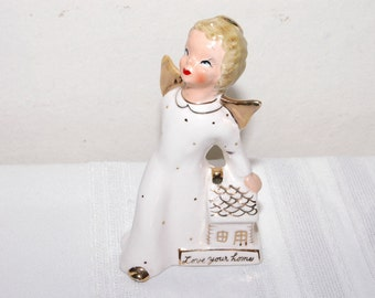 1956 Love Your Home Angel Figurine Made Japan Yong Original